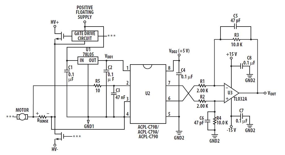 Типовая схема измерения тока