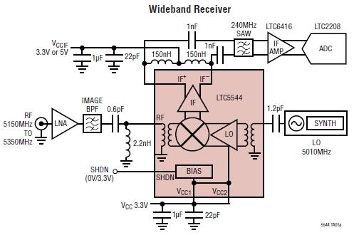 Типовая схема включения LTC5544.