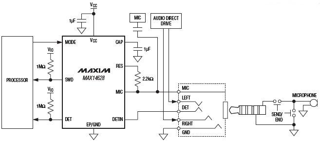Универсальные детекторы проводной гарнитуры с функцией управления смещением микрофона и режимом сверхмалого...