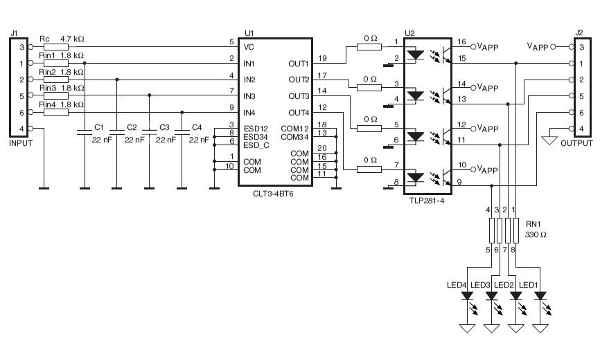 Схема электрическая принципиальная платы STEVAL-IFP008V1.