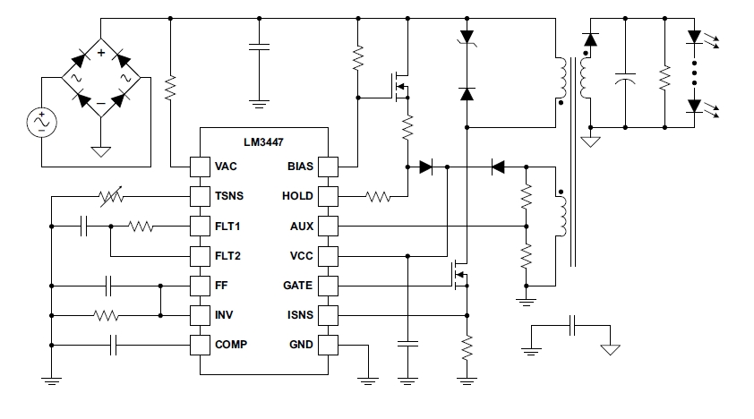 Типовая схема включения LM3447