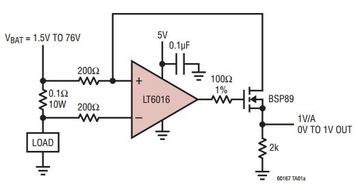 Типовая схема включения LT6016