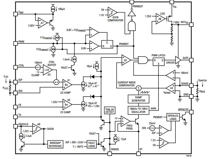 Структурная схема LT3761