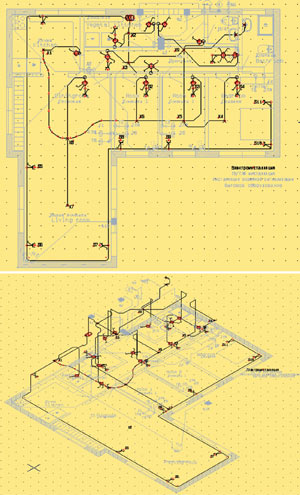 Схема электроинсталляции в