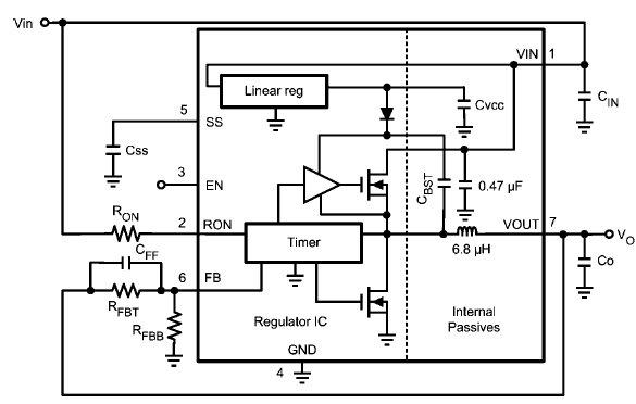Типовая схема включения LMZ14201H