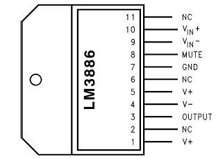 конструктор усилитель мощности lm3886.