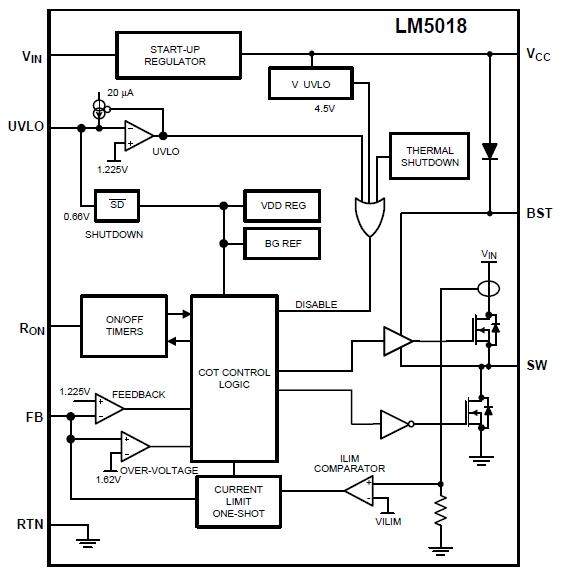 LM5018, Синхронный понижающий