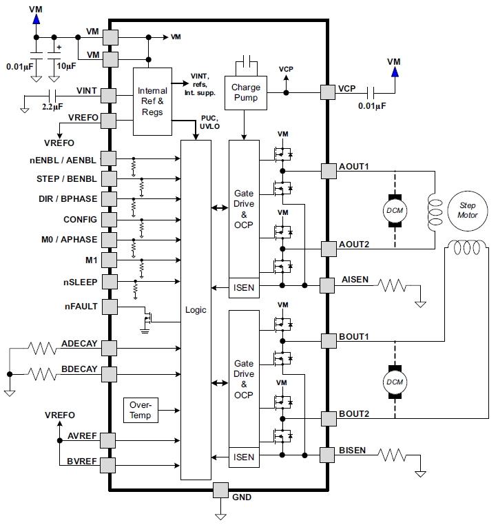 драйвер шагового двигателя