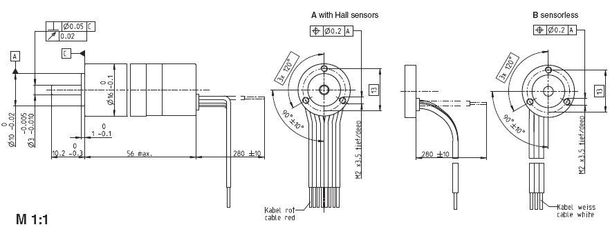 EC16 399678, Бесколлекторный стерилизуемый двигатель постоянного тока серии EC 16, диаметр 16 мм, мощность 60Вт.