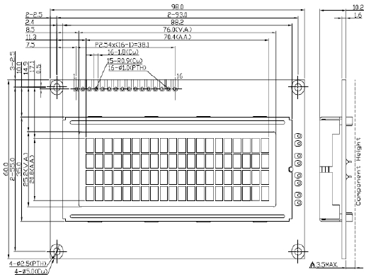 JYC-2004Y1C-VA Алфавитно-цифровой ЖК модуль 20 символов на 4 строки.