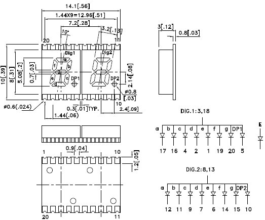 KCDA02-101, 7-сегментный