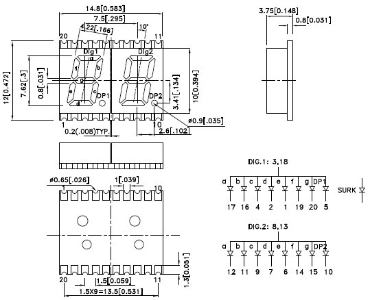 KCDA03-105, 7-сегментный