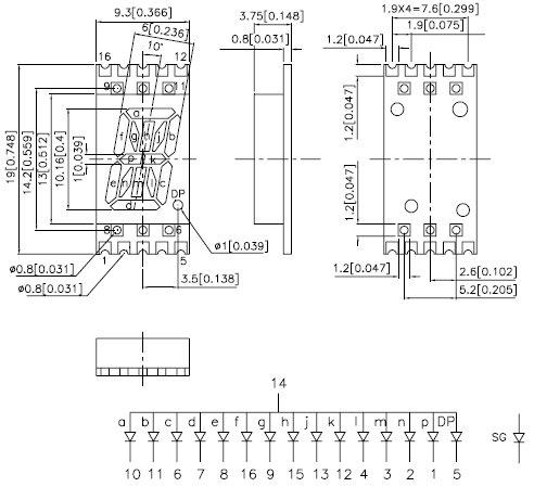 KCPSA04-102, 7-сегментный