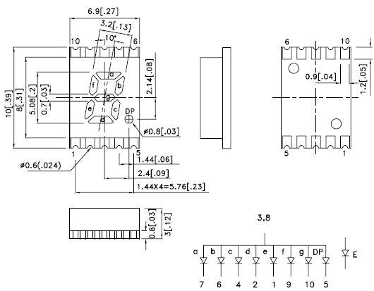 KCSA02-101, 7-сегментный