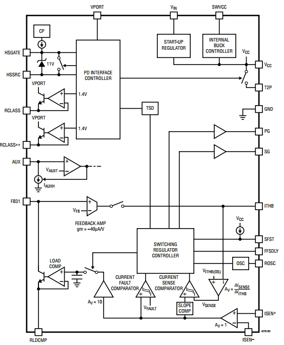 LT4276, Контроллер питаемых