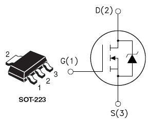 STN4NF03L, N-channel 30 V - 0.039 ? - 6.5 A - SOT-223 STripFET™ II Power MOSFET